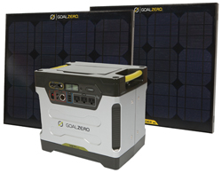 Heavy Duty goal zero yet 1250 solar generator kit